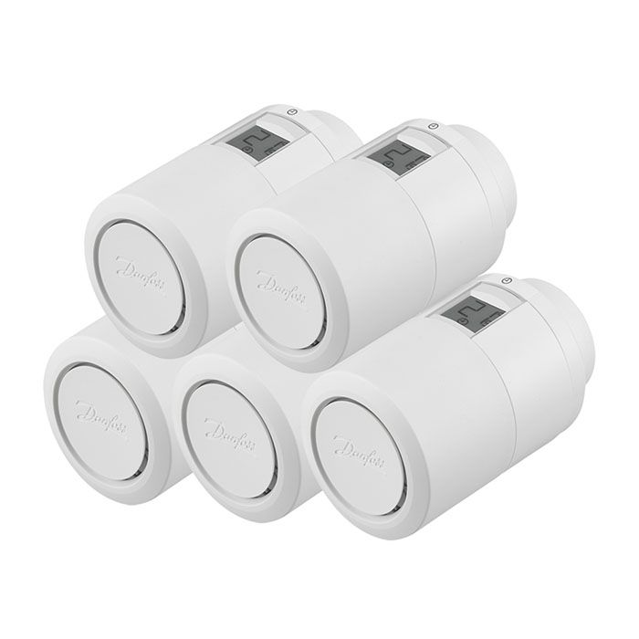 Image of Heizkörperthermostat Danfoss Eco Bluetooth 5er-Set
