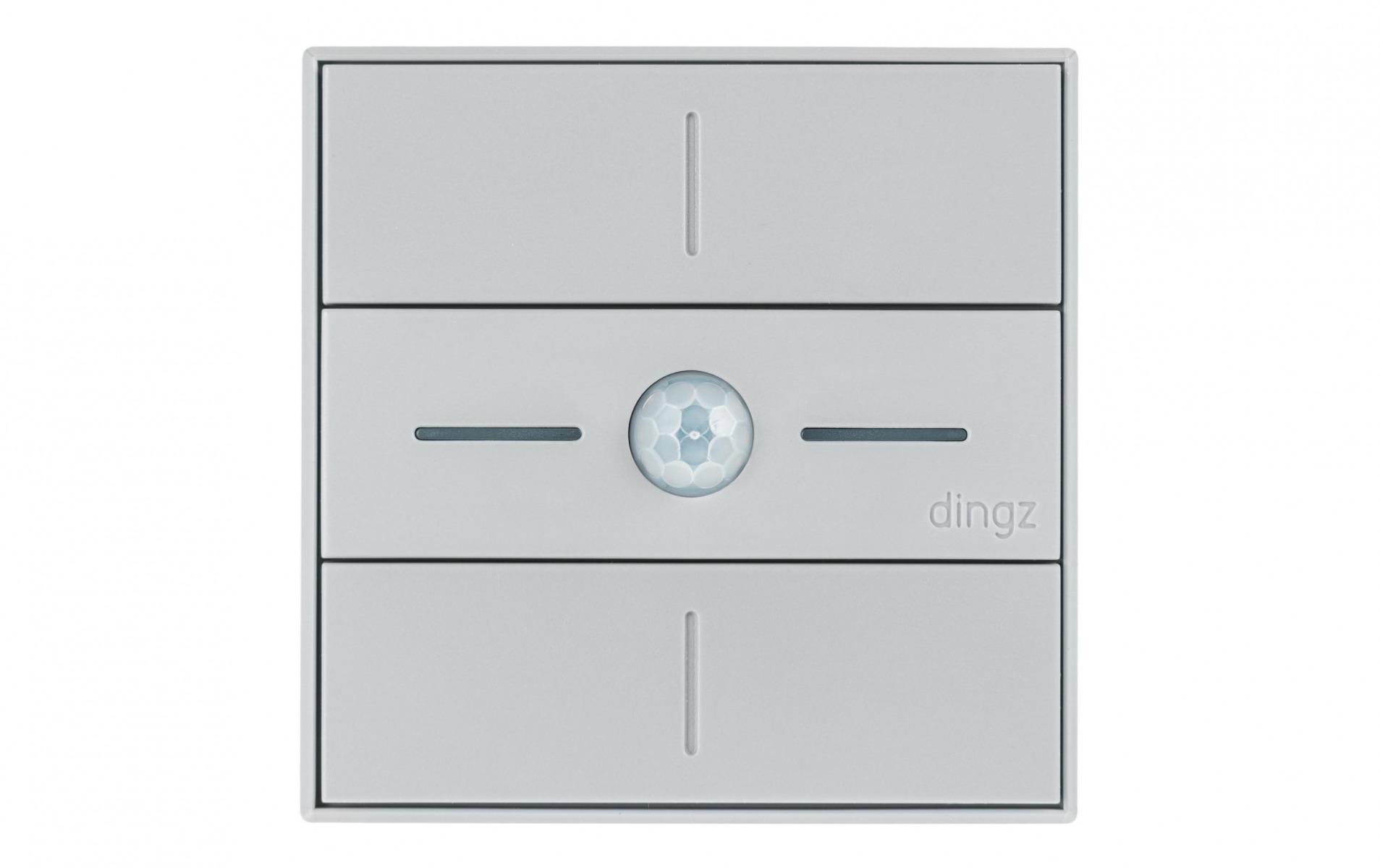 Image of dingz WLAN-Schalter «dingz plus» mit Bewegungsmelder UP hellgrau