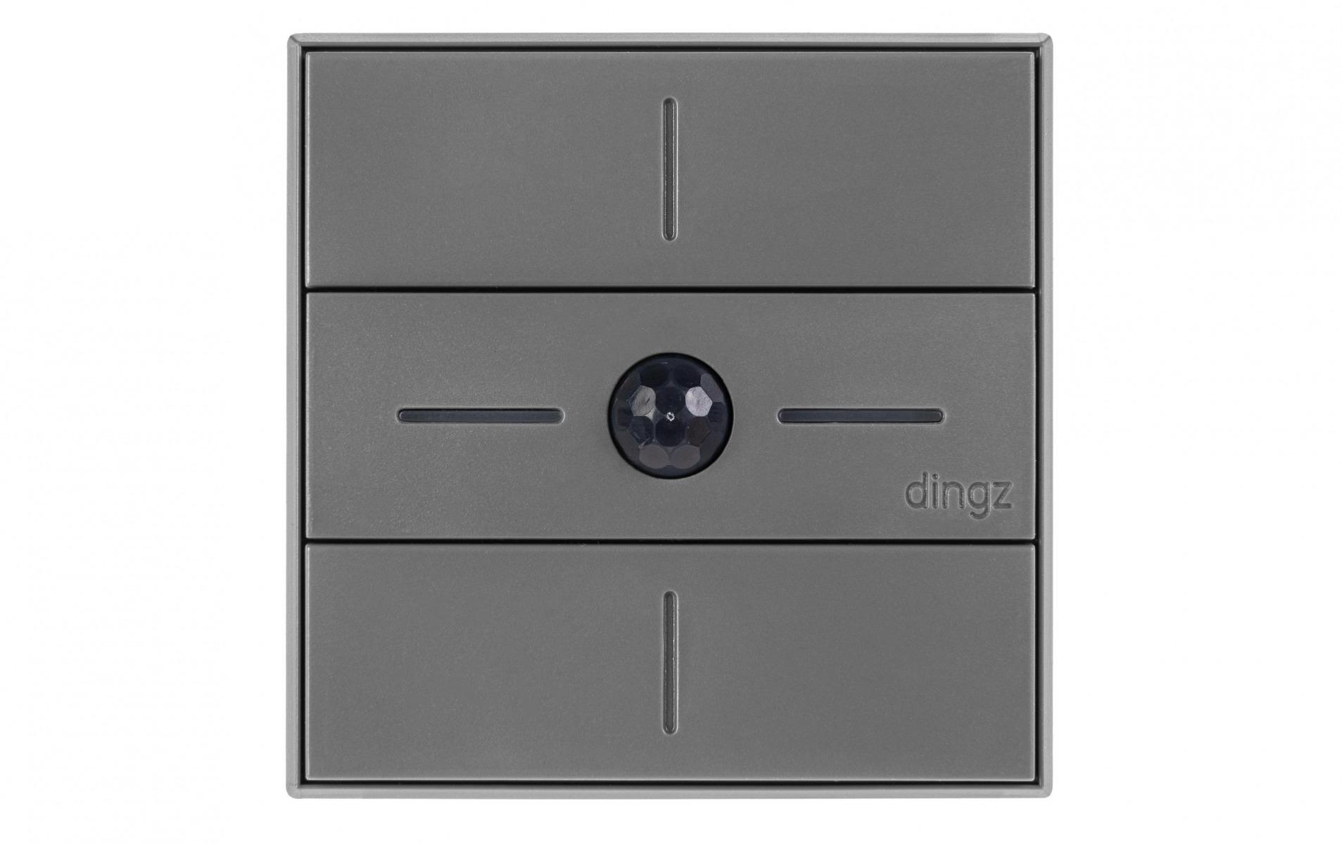 Image of dingz WLAN-Schalter «dingz plus» mit Bewegungsmelder UP dunkelgrau
