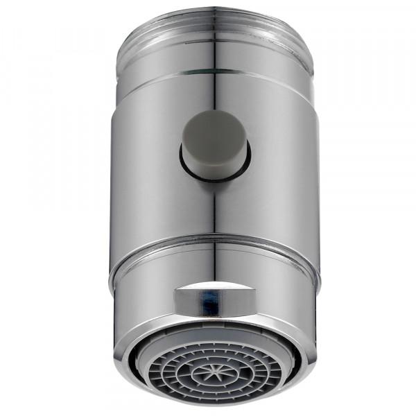 Aérateur avec bouton de commutation pour robinet, M24