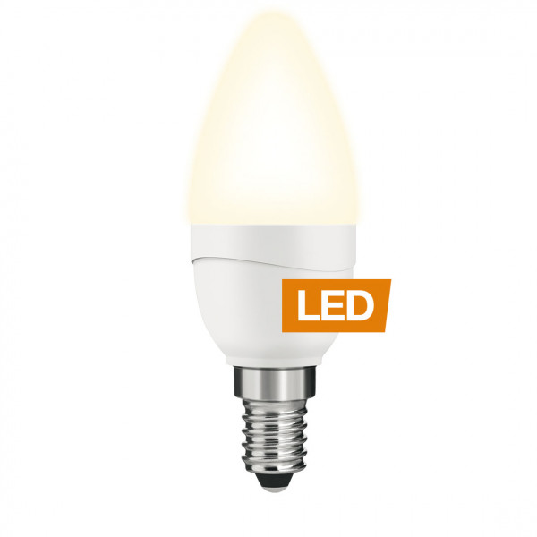 LEDON LED candle, B35, 5W, E14, not dimmable