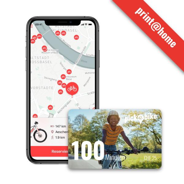 Pick-e-Bike Gutschein 100 min