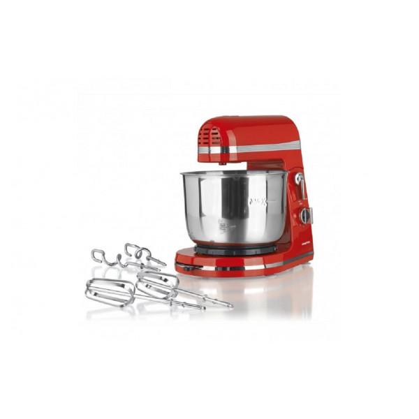 GOURMETmaxx Küchenmaschine 250W, rot inkl. 3 l Rührschüssel