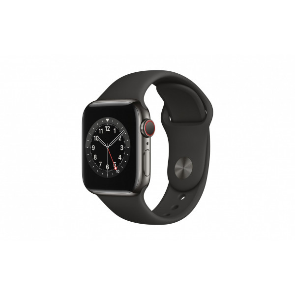 Apple Watch Series 6 40mm GPS Cellular Edelstahl Graphit Sport
