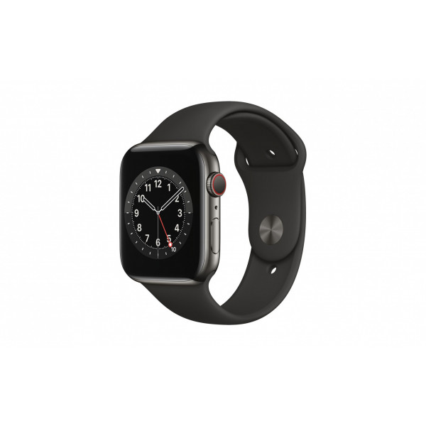 Apple Watch Series 6 44mm GPS Cellular Edelstahl Graphit Sport