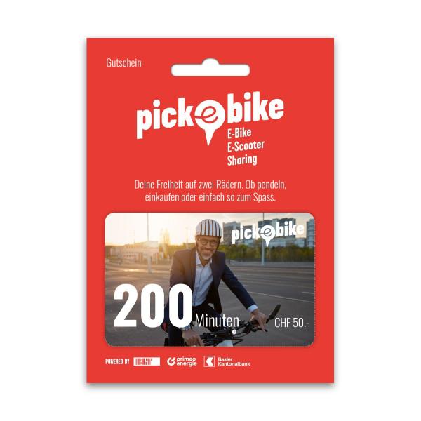 Pick-e-Bike Gutschein 200 min