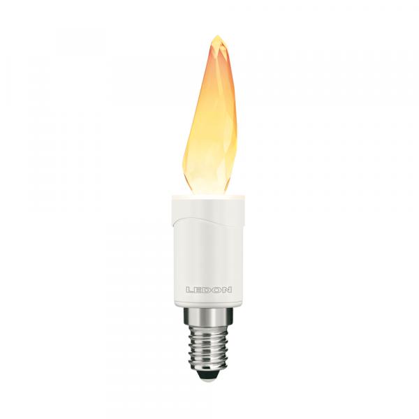 Lampe LEDON : Flamme, Flamme Cristal (Swarovski), 3W