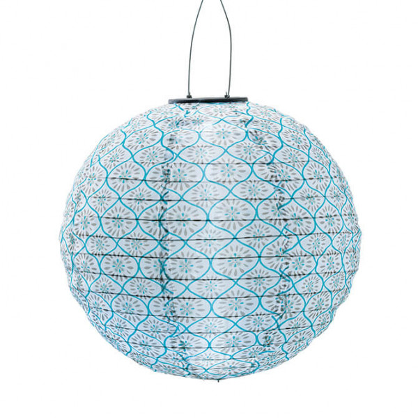 Chinese Lantern, solar-powered, blue (indoor/outdoor)
