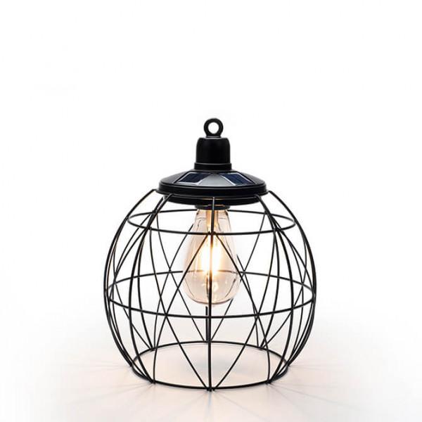 Gartenlampe im Industry Design solarbetrieben, rund (In- & Outdoor)