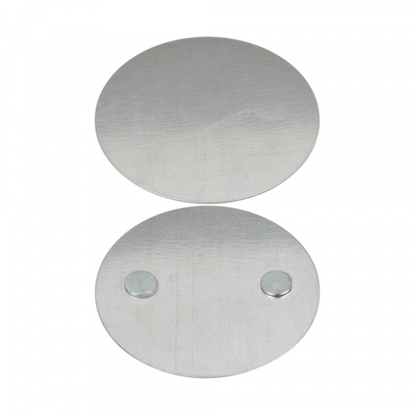 Magnetic mounting plate for smoke detector