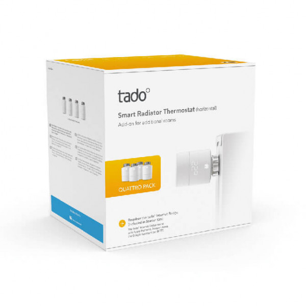 Tado° Heizkörperthermostat 4er Set Packshot