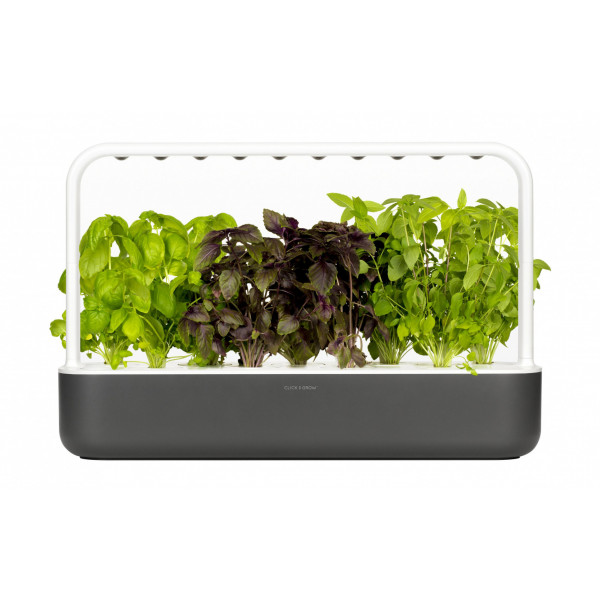 Click and Grow Kräutertopf Smart Garden 9 Dunkelgrau