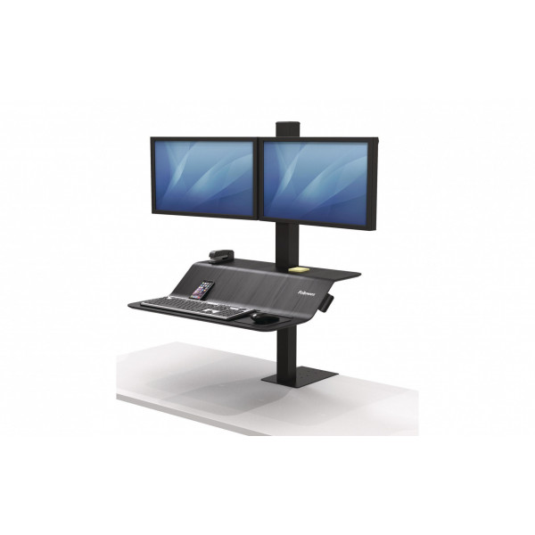 Fellowes TV/Display Stand Workstation Lotus VE Black, 2 Monit.
