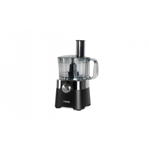 Rotel Küchenmaschine 8-in-1 Schwarz/Transparent