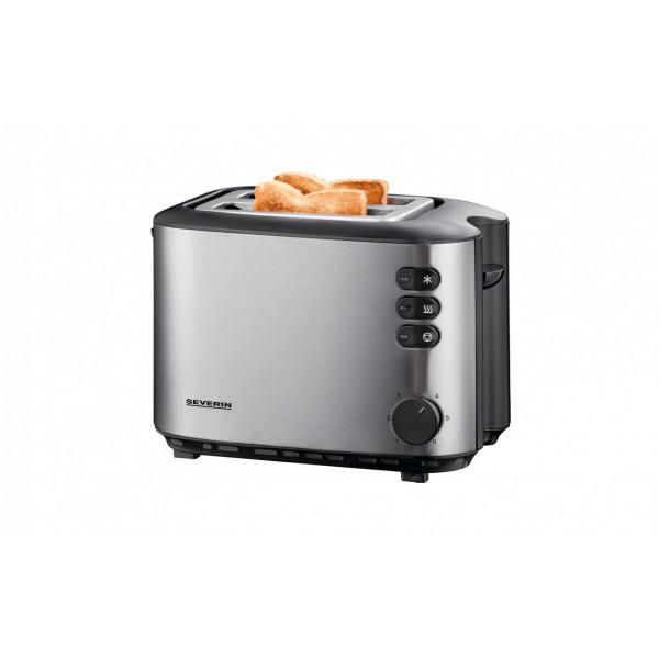 Severin Toaster Automatik-Langschlitz 2514 Schwarz/Silber