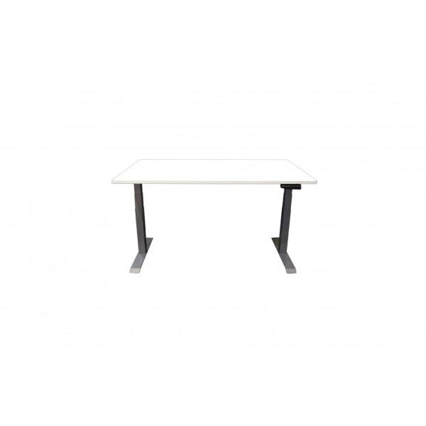 Contini Tisch RAL 9006 2 x 0.9 m mit Tischplatte Weiss