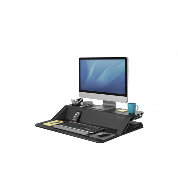 Fellowes TV-/Display-Standfuss Workstation Lotus Schwarz