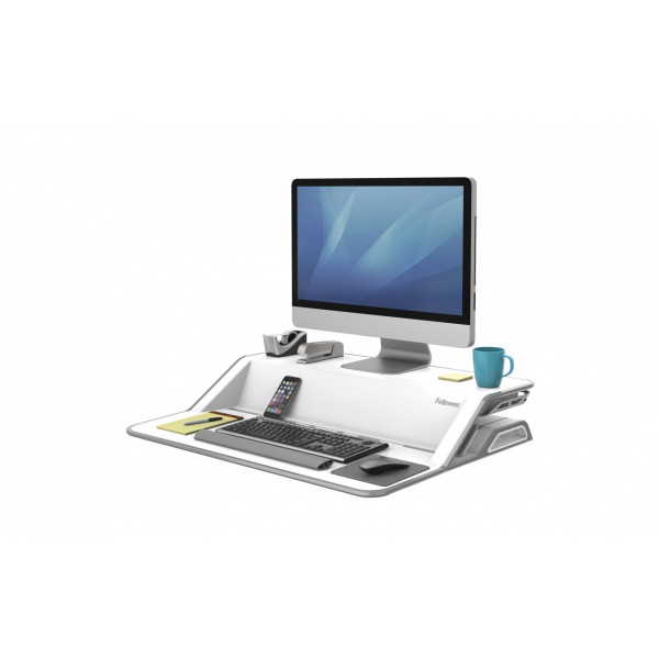 Fellowes TV/Display Stand Workstation Lotus White