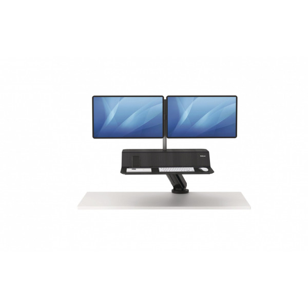 Fellowes Double Monitor Arm Lotus RT Black, pour 2 moniteurs