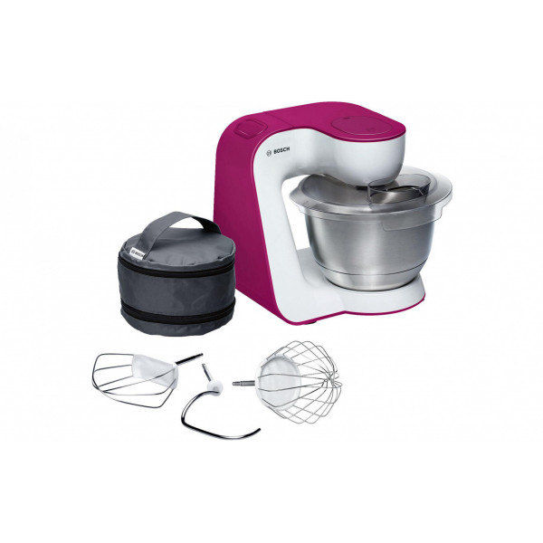 Bosch Küchenmaschine MUM54P00 Weinrot/Weiss
