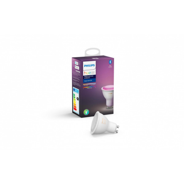 Philips Hue Leuchtmittel White & Color Ambiance, 5.7 W, GU10, BT