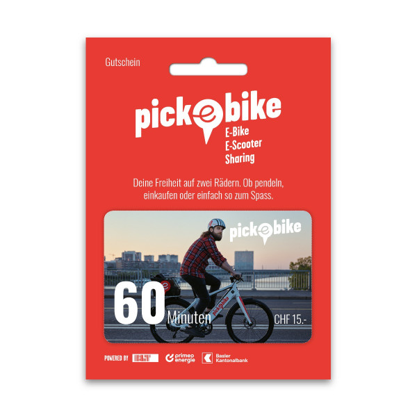 Pick-e-Bike Bon d'achat 60 min
