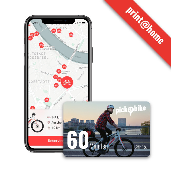 Pick-e-Bike Gutschein 60 min
