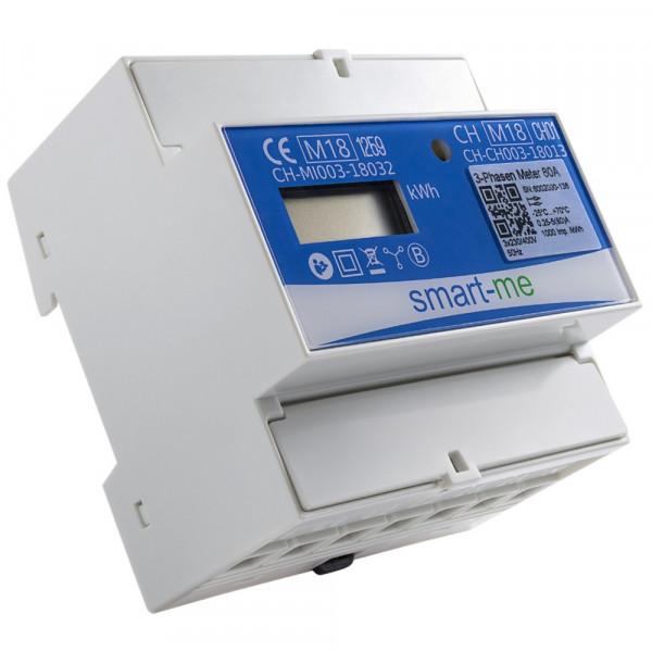 Compteur d'énergie triphasé Smart-Me, montage par le propre installateur