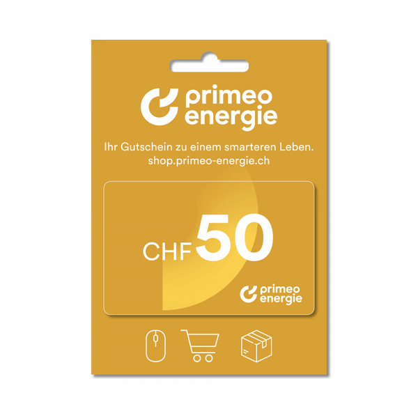 Primeo Energie gift card 50.-