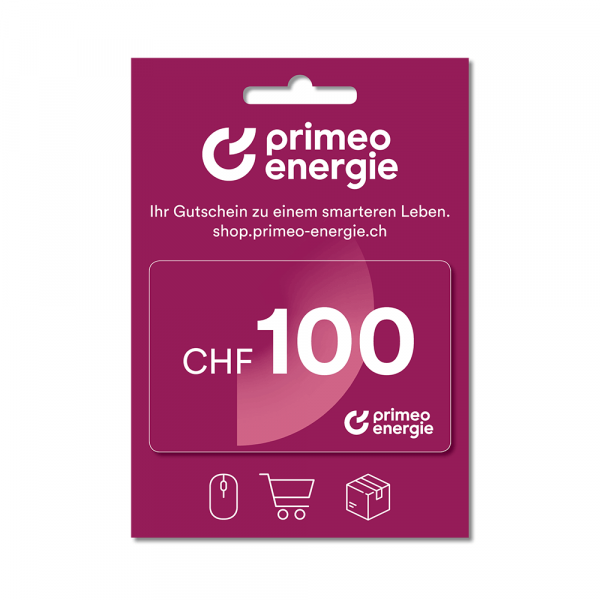 Primeo Energie gift card 100.-