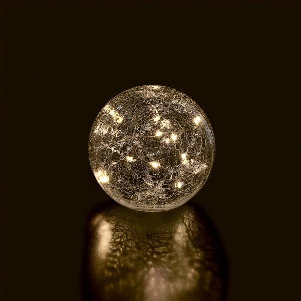 Glasi LED-Kugel Frost D12cm
