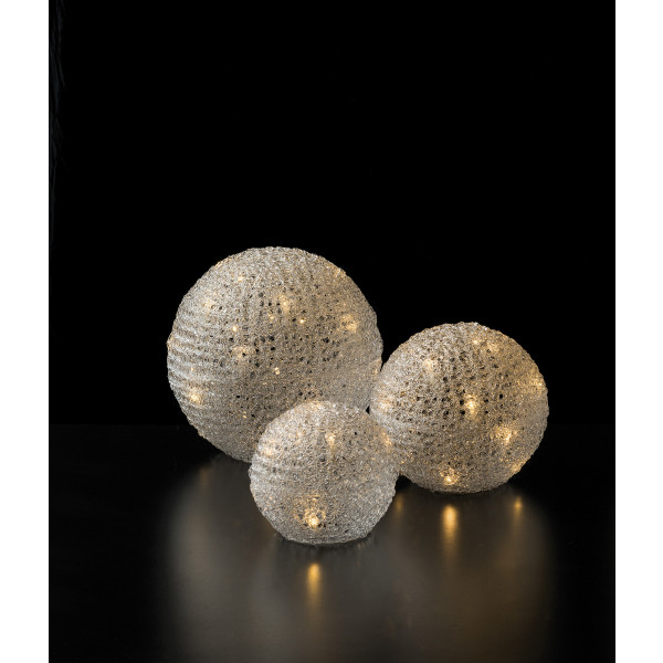 LED Ice Ball Set (3 Stück, D15cm / 20cm / 25cm)