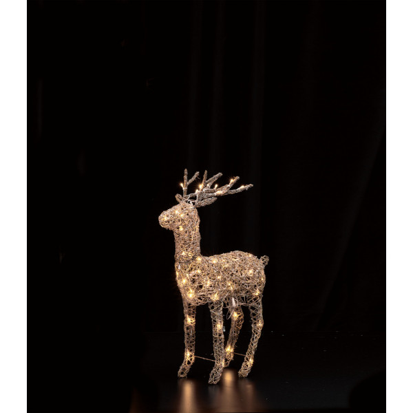 LED Brown Rattan Deer H70cm