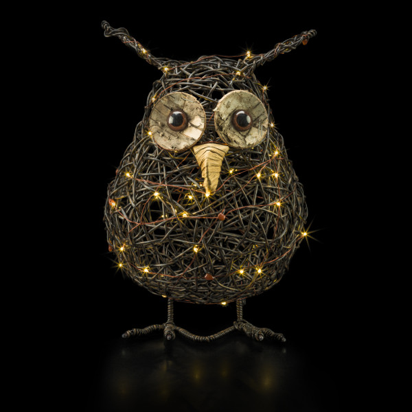 Snooki Rattan owl S 22cm x 33cm