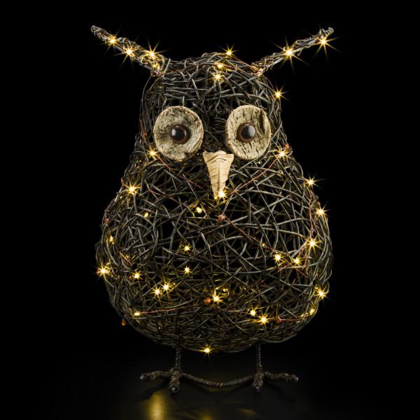 Snooki Rattan owl L 27cm x 40cm
