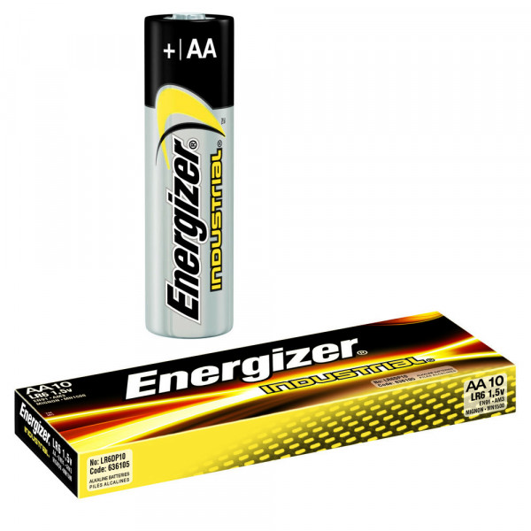 Energizer Industrial Alkaline Mignon, LR6 AA-Batterien, 10er-Set