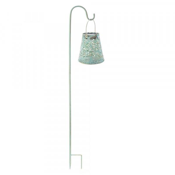Solar lantern antique, leaf incl. garden stick