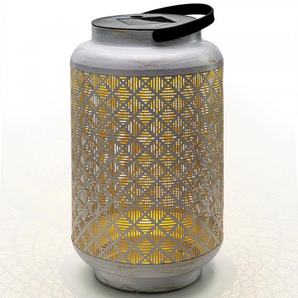 Solar lantern Vintage, white gold L