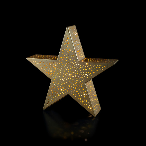 Metal star gold