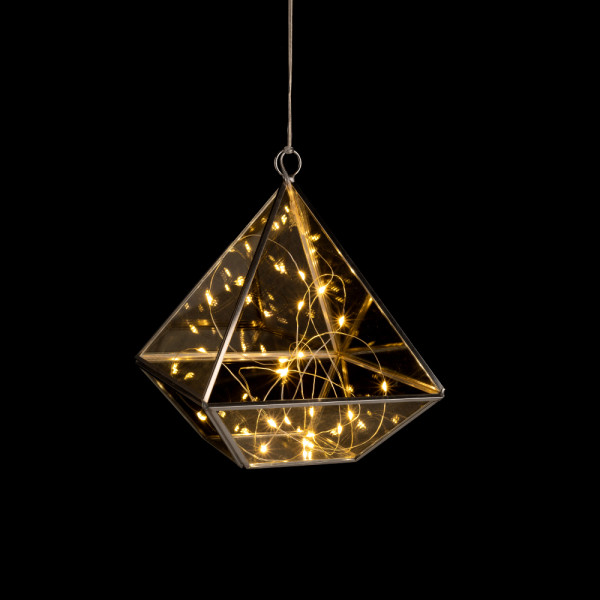 Glass diamond, small
