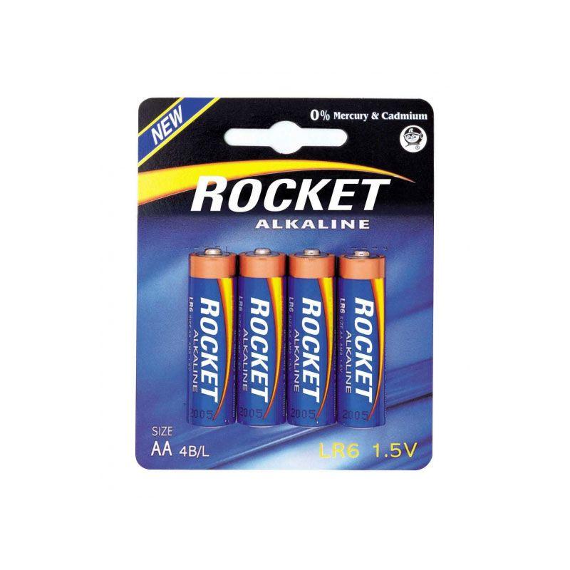 Rocket Alkaline Blue  LR6 AA-Batterien  4er-Set