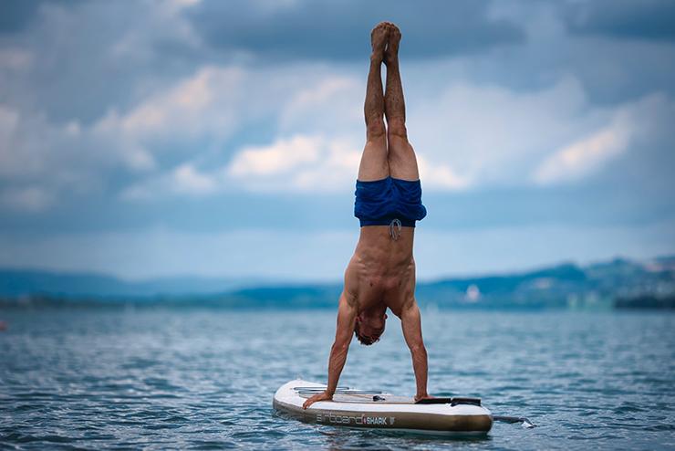 Stand-up-Paddling-mit-Trainingseffekt
