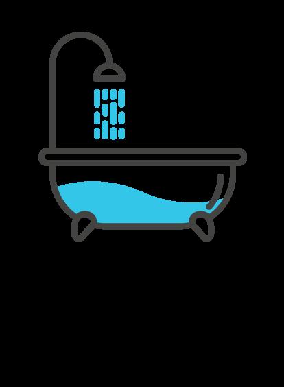 31 Liter Wasser pro Tag Dusche